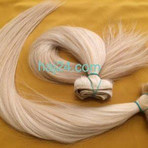 Tresszelt világos szőke hajak I. osztályú 100% emberi haj