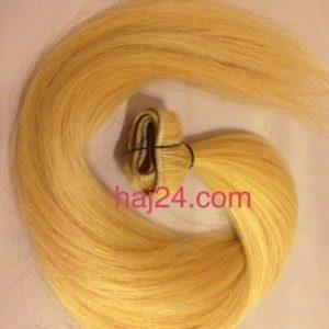 Tresszelt méz szőke I. osztályú 100% emberi haj
