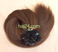 Gesztenyebarna tincses I. osztályú 100% emberi haj